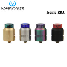 In Stock Vandy Vape Iconic RDA E Cigarette Atomizer Side Bottom Airflow Rebuildable VandyVape Drip Tank For Pulse BF MOD Vape(China)