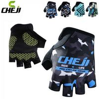 2017 CHEJI Team Ciclismo Mens Outdoor Bike Half Finger Gloves High Quality Bicycle Breathable Sports GEL Cycling Gloves S-XL