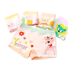 6 Pcs/Lot New Girls Boxer Breathable Cotton Material Kids Girls Underwear for Ba