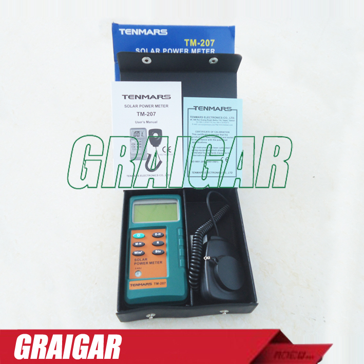 Free shipping TM-207 Solar Power Meter, With1.5M Remove Sensor ~1pc  цены