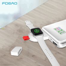 FDGAO Mini Portable Wireless Charger For Apple Watch Charging Pad USB Magnetic Fast 1 2 3 4