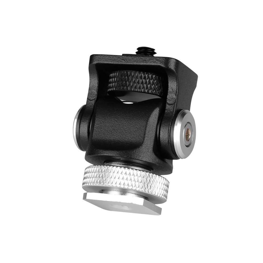 3 в 1 тройное крепление для холодного башмака пластинчатый микрофон Стенд светодиодный видео светильник удлинитель кронштейн для Zhiyun Smooth 4 Feiyu Vimble 2 Dji osm2 - Цвет: Черный