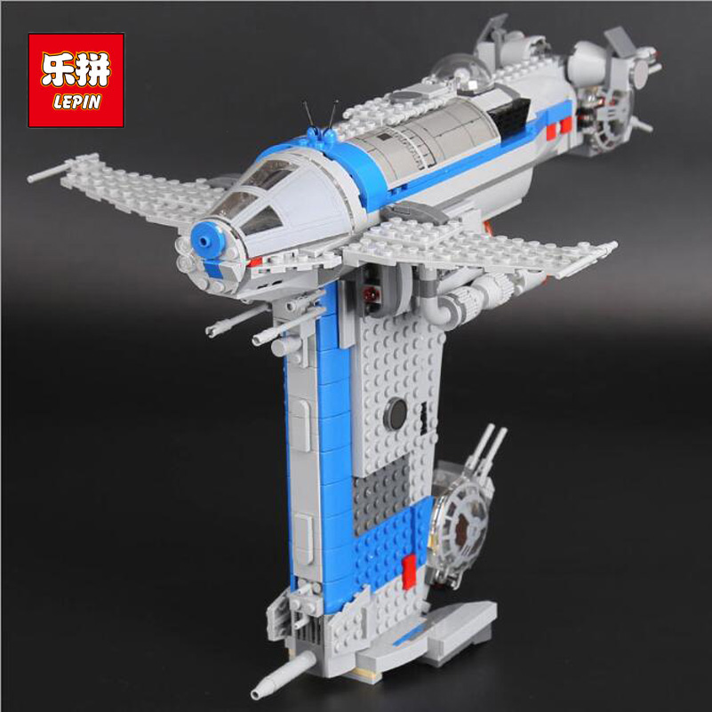 Lepin Star War Series Building Blocks Resistance Bomber Model 873pcs Bricks Toys Children Birthday Gifts Compatible 05129 2015 high quality spaceship building blocks compatible with lego star war ship fighter scale model bricks toys christmas gift