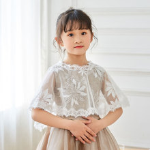 New 2019 childrens spring and summer shawl thin lace princess cape girl sunscreen clothes
