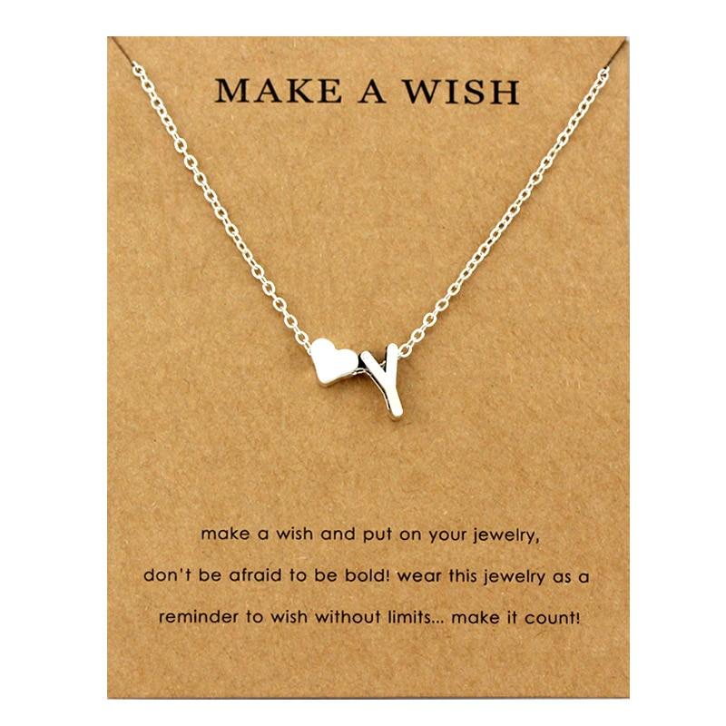 Сердце начальные Подвески ожерелье s персонализированное ожерелье с буквами Имя ювелирные изделия для женщин мужчин аксессуары подруги любовника пара подарок - Окраска металла: NE1679