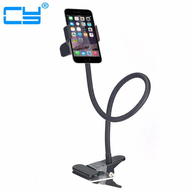 Cell Phone Clip Holder Stand Gooseneck Clip Clamp Mount on Car Desk Table for i Phone Android Phone baseus gold aromatizing car mount phone holder gold