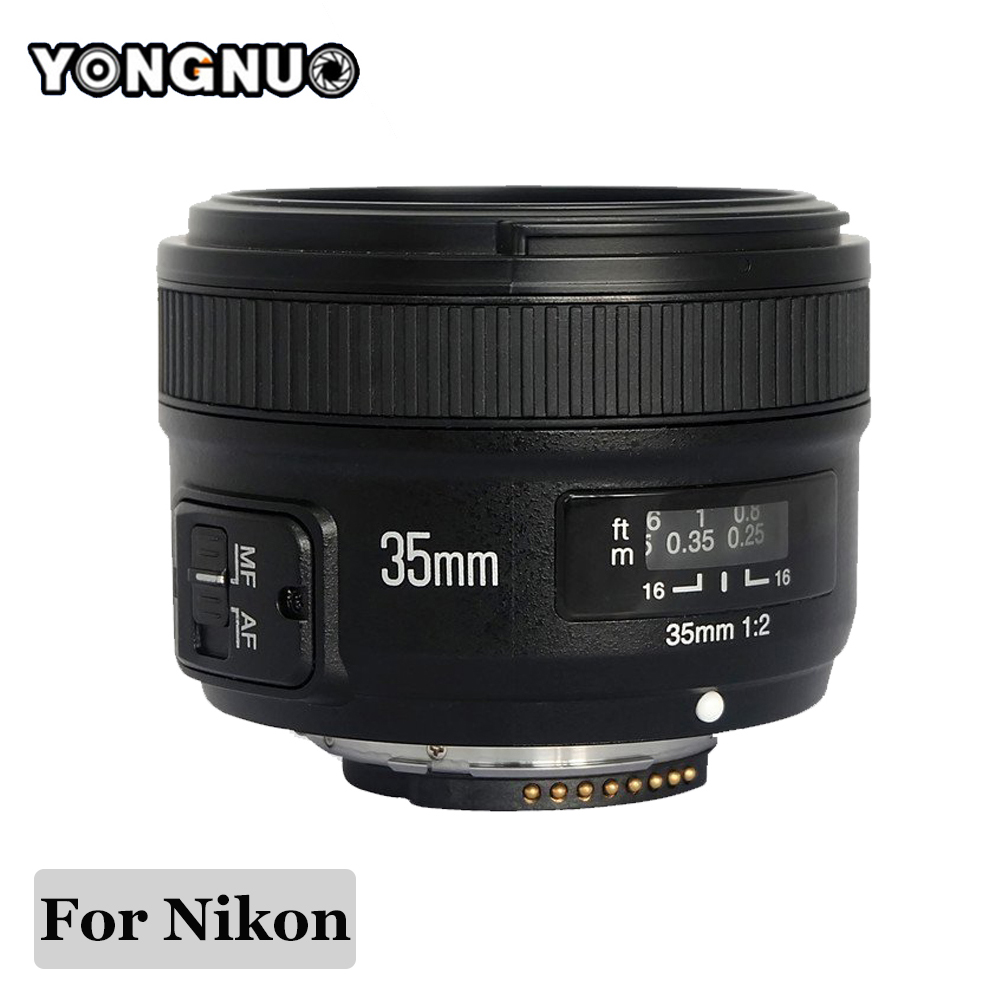 YONGNUO YN35mm YONGNUO 35mm F/2 Lens Wide-angle Large Aperture Fixed Auto Focus Lens For Nikon d7100 d3100 d5300 d7000 d90 d5200