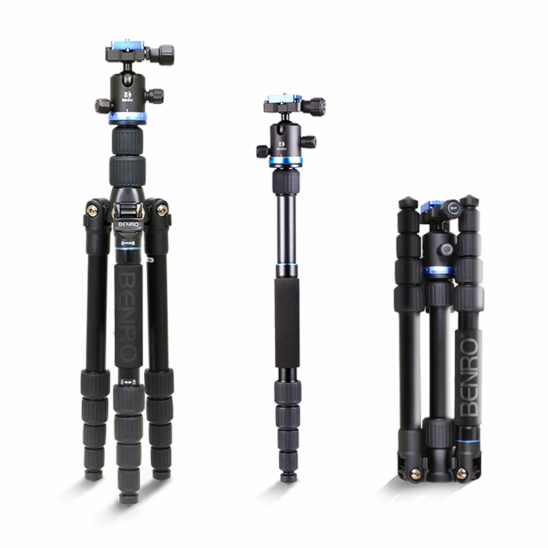 Berno New IF19 Aluminum Portable Tripod Kit Professional Travel Photography Tripod Removable Tripod With Head For Digital Camera pro q308 aluminum portable digital photography tripod with ball head