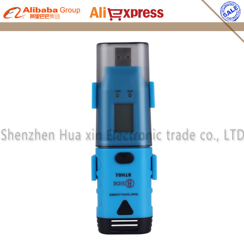 BTH01 Professional Digital Humidity and Temperature USB Data Logger Recorder 0~100% RH LCD Display Dew Point Software CD IP66 полотно пильное makita 400мм b 10403