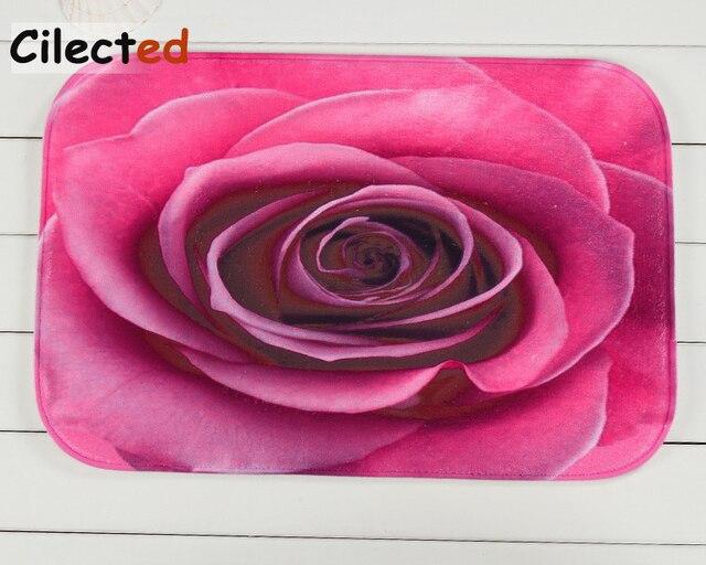 Tappeto Da Salotto Rosa : Cilected 3d fiori rosa tappeto per i bambini in camera cucina bagno