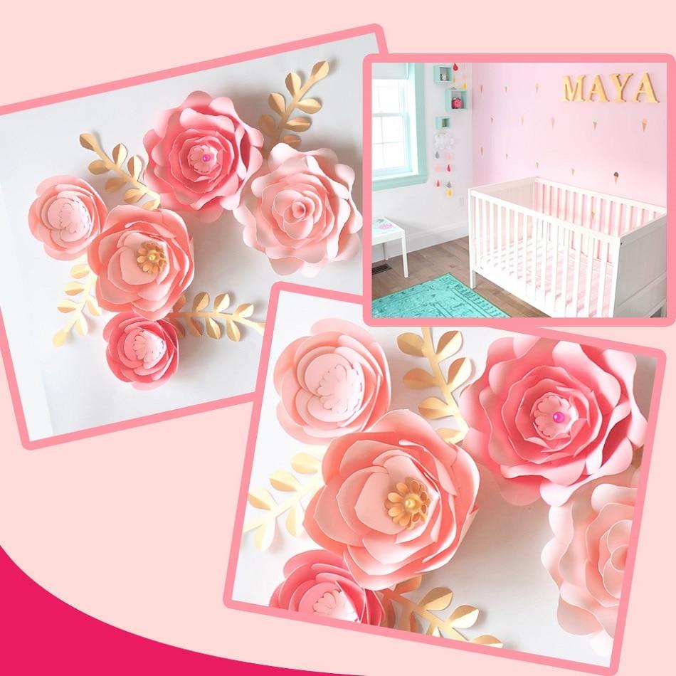Flowers Wall Decor Pink Nursery Flower