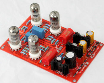 6N3 Tubes Preamplifier /Pre-amp board ---Assembled preamp board (with tubes)