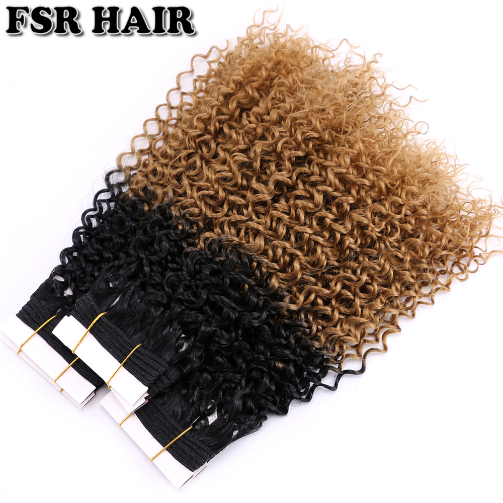 100Gram/pcs FSR Ombre Synthetic Hair Extensions Kinky Culry Weave Color T1B/27 Two Tone Ombre Afro Curly Wavy Bundles