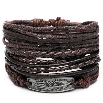 Vintage Multilayer Leather Bracelet for Men Bracelets Jewelry Men Jewelry New Arrivals Metal Color: FDY1305