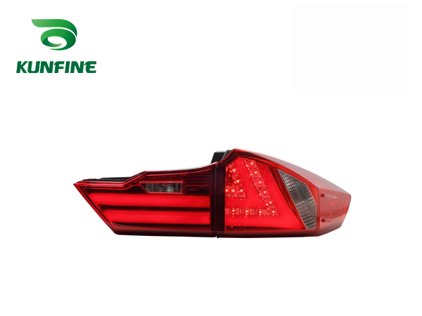 Pair Of Car Tail Light Assembly For Honda City 2014  Brake Light With Turning Signal Light pair of car tail light assembly for honda city 2014 brake light with turning signal light