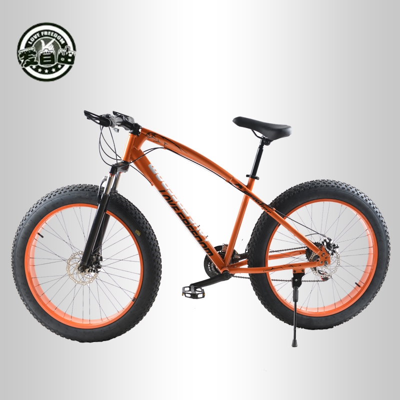 Love Freedom  Hot Sale 7/21/24/27 Speed Snow Bike 26-inch 4.0 Fat Bicycle Mechanical disc brake Mountain Bike Free Delivery 1