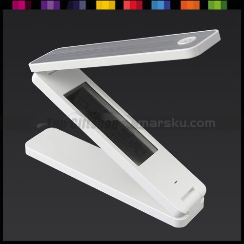New Arrival / Folding Super Bright LED Desk Light Lamp with Calendar & Thermometer & Alarm Clock #2498