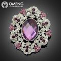 OMENG Women Crystal Vintage Jewelry Wedding Brooches Bouquet Corsage Brooch Lot Mix Flower Hijab Pin Up  OXZ039