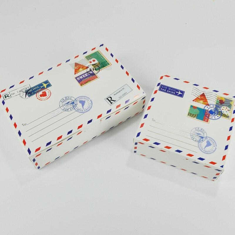 Envelope Design Cake Boxes Maccaron Baking Package Kraft Paper Candy Cookies Gift Box for Wedding Birthday