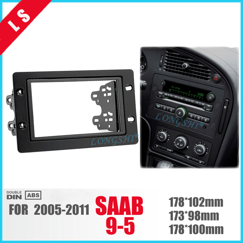 LONGSHI 2 Din Car refitting DVD frame,DVD panel,Dash Kit,Fascia,Radio Frame,Audio frame for SAAB 95 9-5 2005-2011,2DIN цена