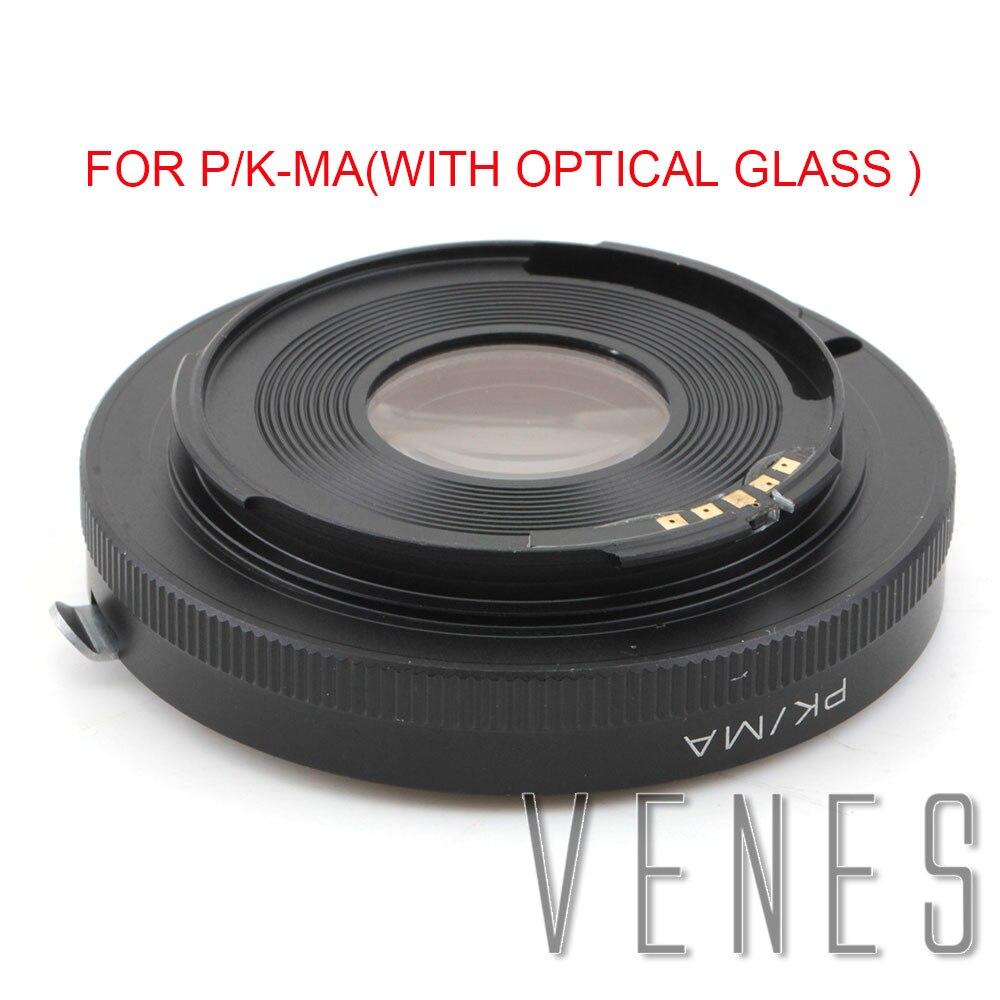 Venes pour P/K MA avec verre optique AF confirmer Pentax K PK lentille à Sony Alpha Minolta MA adaptateur A500 A450 A55-in Objectif Adaptateur from Electronique    1