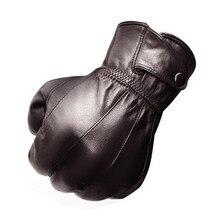 Genuine Sheepskin Motorcycle Gloves Winter Warm Windproof Protective Touch Screen Fleece Lined Moto Luvas
