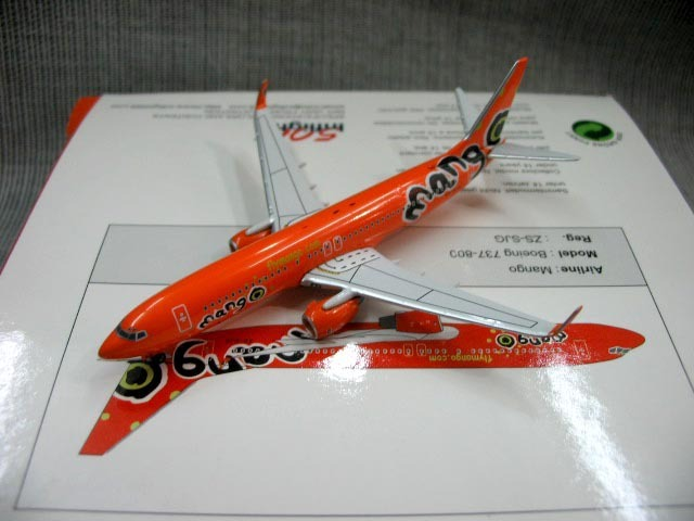 Out of print  Inflight500 mango 737-800 1:500 Boeing zs-sjg aircraft model