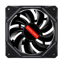 120mm RGB Cooling Fan Quiet 6 pin Dual Aura PC Case Cooling Fan for Computer Remote Control Adjustble LED and Fan Speed 1400RPM(China)
