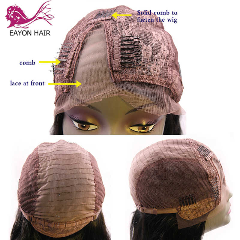 EAYON 180% Density Afro Kinky Curly U Part Wig Human Hair Virgin Mongolian Remy Human Hair Upart Wigs Kinky Curls For Women