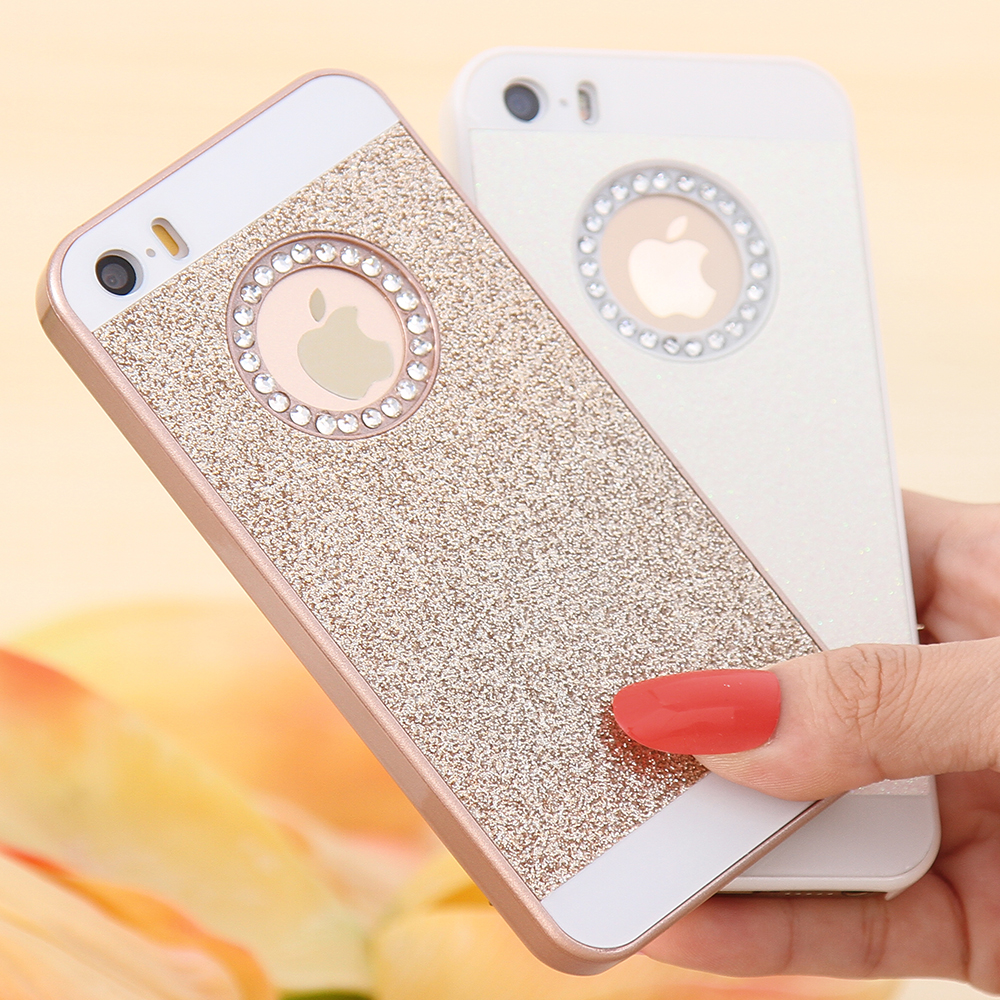 FLOVEME For iPhone 5S SE 6 7 Plus Case Glitter Slim Bling Diamond Case For  iPhone 5 5S SE 6 6S Plus Luxury Hard Back Phone Cover-in Rhinestone Cases  from ... 4d1ec1e0e0