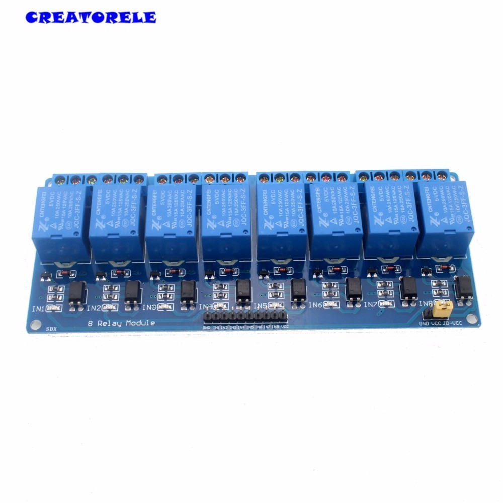 us $2 51 5% off hot sale 5v electronic timer relay module 8 channel shield for 51 avr arm logic som automotivo in relays from home improvement on  dc dc boost power supply module