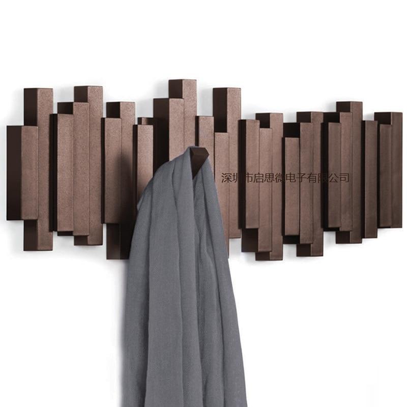 Creative multifunction Hanger Organizer Hangers Hooks Housekeeper Wall Clothes Hanger Coat Wood-shape Coat Rack Garden Hook
