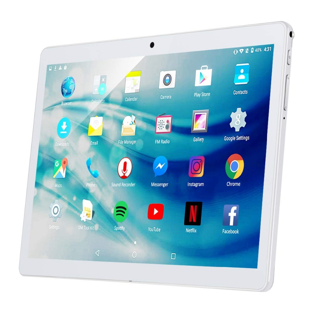 4g Tablet Pc 10.1 Inch Android 7.0 Octa Core Google Tablet Dual SIM Phone Call 32GB ROM 4GB RAM WIFI Bluetooth GPS Tablet PC 10