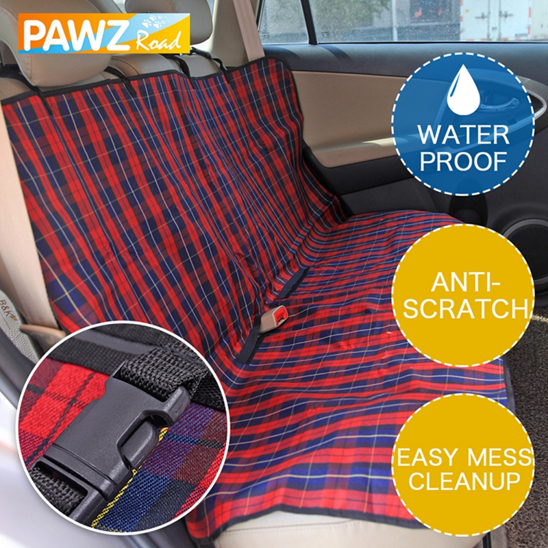 Pet Dog Car Seat Cover Durable Dog Cat Car Hammock Oxford Collapsible Dog Cushion Protector for Travel Car Back Guard Seat Fence 2