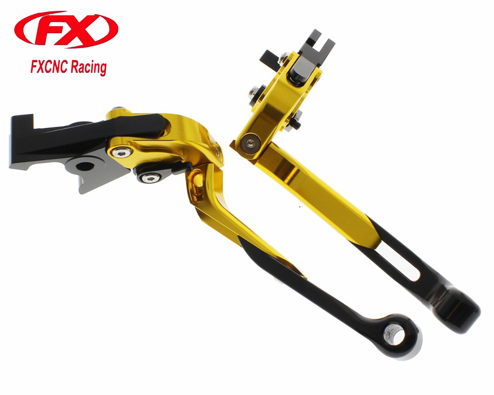FX CNC Folding Extendable Adjustable Aluminum Motorcycle Brake Clutch Levers For HONDA GROM MSX125 CBR250R CBR300R CB300F FA