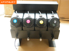 4 color UV bulk ink system with sensor without cartridge for  Flat printer (not need cartridge)
