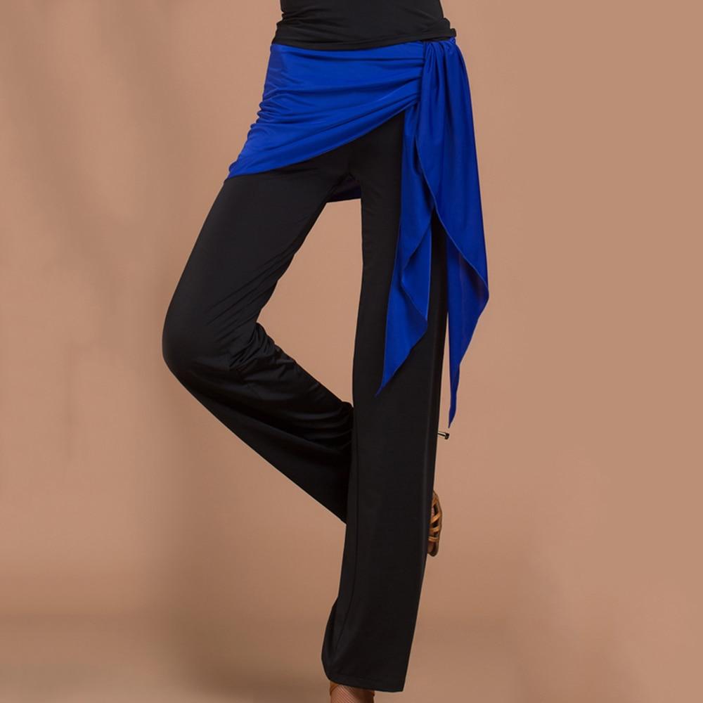 b2fea766c1429b 2017 Sezon Etap Kobiety Latin/Tańca Towarzyskiego Spodnie i Hip Szalik  Spodnie Czarne Taniec Danza Konkurencji Fitness Odzież