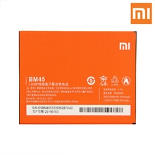 Xiao Mi Original Replacement Phone Battery BM45 For Xiaomi redmi Note 2 note2 Authenic Rechargeable 3060mAh