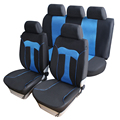 Auto Care New Arrival 9pcs Car Seat Covers Blue T shape design Sandwich mesh for Summer Car Seat Protector