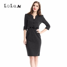 Women's Clothing Button Belt Dresses Plus Size Fashion Slim Sexy Dress