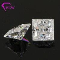 Прованс ювелирные изделия 3ex VVS EF цвет 3,1 карат 8*8 мм Принцесса cut loose look like Алмазный Муассанит для кольцо браслет ожерелье