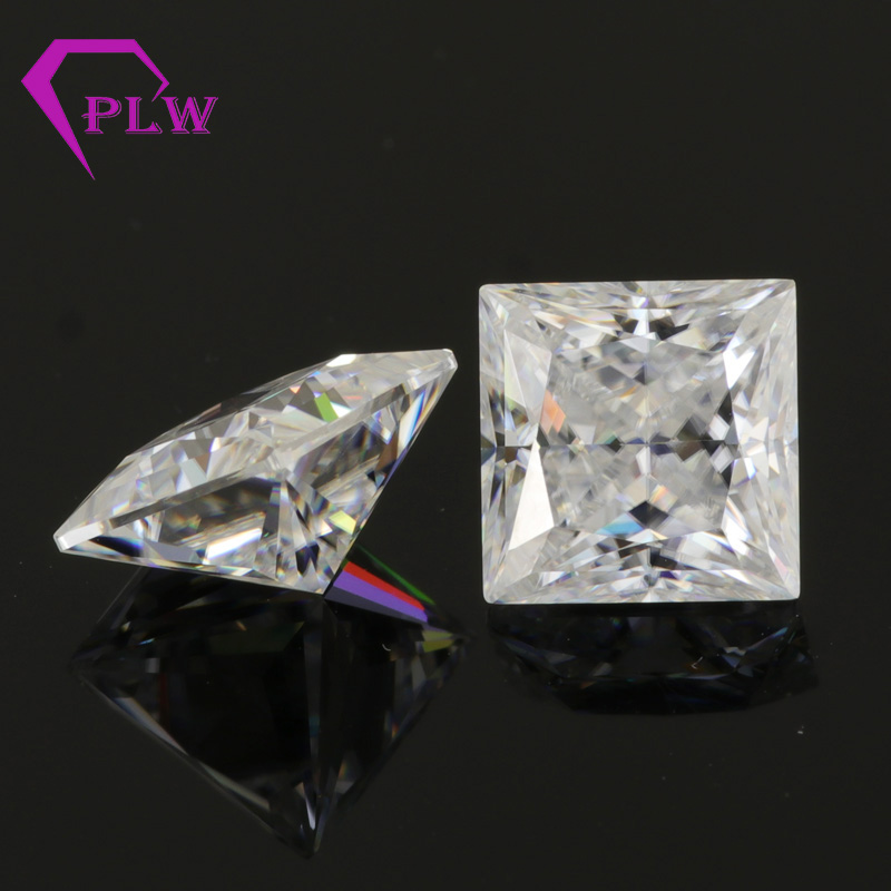 Provence bijoux 3ex VVS EF couleur 3.1 carat 8*8mm princesse coupe lâche look comme diamant moissanite pour bague bracelet collier