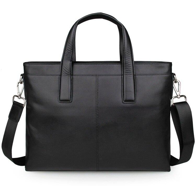 Reise Marke Echtes Aktentasche Tasche Männer Laptop Zoll Crossbody Messenger 15 Black Business Schultertasche Q051 Kuh Leder einkaufstasche wwOqEpr
