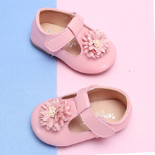COZULMA Baby Girl Flower Casual Shoes Toddler Kids Party Anti-slip T-Strap Flat Spring New Enfants Size 15-25