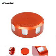 R QIANKONG For KTM DUKE 125 200 390 RC SMC/R 690 Supermoto Aluminum CNC Engine Rear Filter Fluid Reservoir Cap Cover