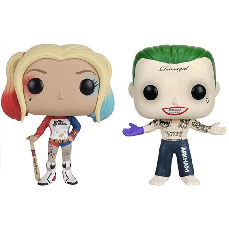 FUNKO Suicide Squad Harley Quinn Joker Vinyl Action Figure Collection Model toys for Children birthday gift