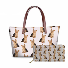 NOISYDESIGNS Yorkie Printing Dog Animal Top-handle Bags Large Shoulder Bag for Women Casual Tote Female Messenger Fashion