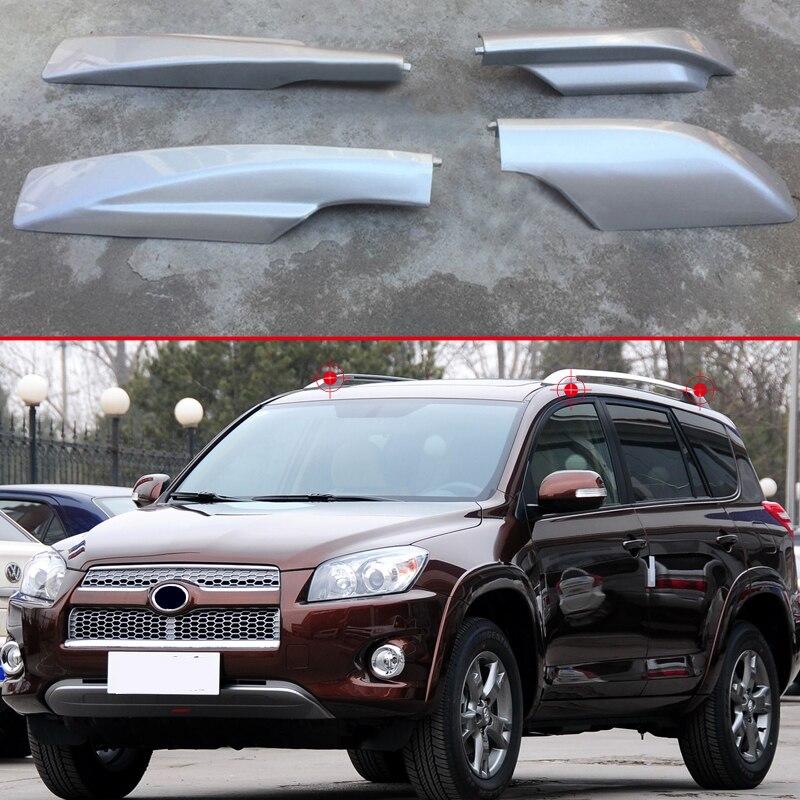 Pour Toyota RAV4 A30 2006 2007 2008 2009-2012 Toit Rails Rack Fin Cap Protection Couverture Rail Fin Shell remplacement de voiture accessoires