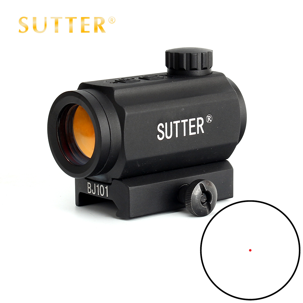 SUTTER Low Power Tactical Hunting 1X21 Spec Reflex 5 MOA Red Dot Sight Scope Weaver Picatinny Mount кий для пула cuetec 1 рс черный 21 076 57 5