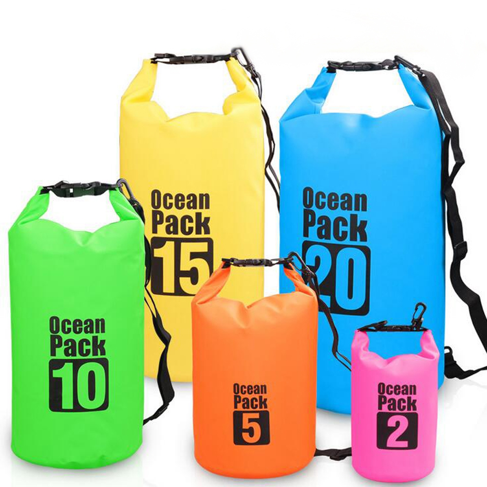 2L Waterproof Dry Sack Bag Swimming Rafting Bag For Mobile Phone Handbag Kayaking Swimming Bag
